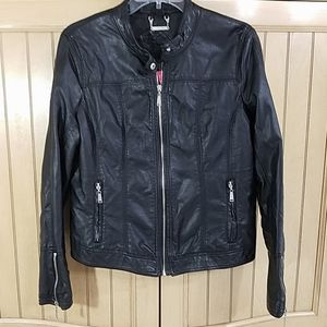 Jou Jou Faux Leather Jacket, sz XL